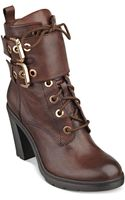 Guess Womens Finlay High Heel Combat Booties - Lyst