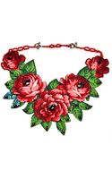 Masterpeace Vintage Fabric and Amber Stone Necklace - Lyst