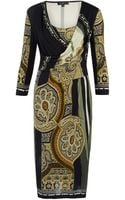 Etro Khaki Paisley Print Dress - Lyst