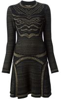 Roberto Cavalli Knitted Flared Dress - Lyst