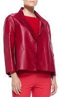 Lafayette 148 New York Mckenna Lambskin Leather Topper Jacket - Lyst