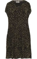 Etoile Isabel Marant Calesi Leopardprint Crepe Dress - Lyst