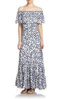 Rebecca Minkoff Devy Dot-print Silk Maxi Dress - Lyst