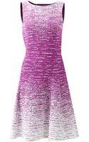Oscar de la Renta Bateau Neck Tweed Dress - Lyst