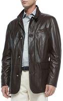 Peter Millar Sheepskin Leather Jacket - Lyst