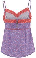 Liberty Print Purple Franche Print Cotton Vest Top - Lyst