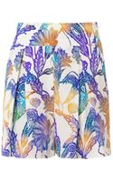 Matthew Williamson Escape Woodcutprint Silk Shorts - Lyst