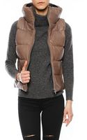 June Leather Puffer Vest - Lyst