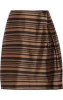 Raoul Tulip Striped Silk and Cottonblend Mini Skirt - Lyst