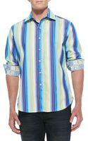 Robert Graham Como Striped Sport Shirt - Lyst