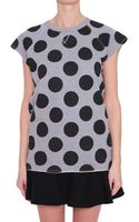 RED Valentino Cotton Fleece Top with Polka Dots - Lyst