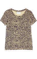 Ganni Leopard Print Tshirt - Lyst