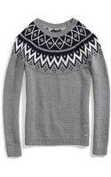 Tommy Hilfiger Boatneck Fairisle Sweater - Lyst