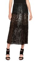 Donna Karan New York Hand Embroidered Runway Skirt - Lyst