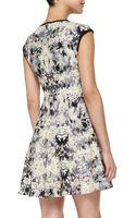 Nanette Lepore Love Crime Solid-trim Floral Dress - Lyst