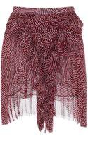 Isabel Marant Pleated Chiffon Silk Meg Skirt in Rust - Lyst