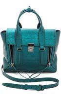 3.1 Phillip Lim Pashli Medium Satchel Turquoise - Lyst