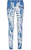 Balmain Midrise Printed Skinny Jeans - Lyst