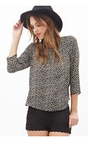 Forever 21 Abstract Print Woven Blouse - Lyst