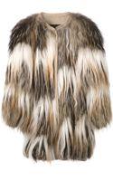 Liska Shaggy Fur Coat - Lyst