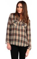 Metropark Milly Plaid Top - Lyst