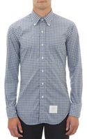 Thom Browne Checkpattern Broadcloth Shirt - Lyst