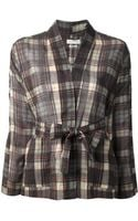 Etoile Isabel Marant Checkered Tie Around Shirt - Lyst