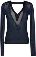 Dion Lee Lurex Knitted Sweater - Lyst