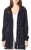 Michael Kors Perforated Suede Anorak - Lyst