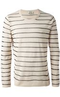 Acne Studios Striped Sweater - Lyst