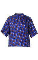 J.W. Anderson Waveprint Silk Shirt - Lyst