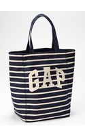 Gap Logo Stripe Canvas Tote - Lyst