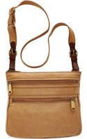 Fossil Explorer Leather Crossbody - Lyst
