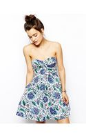 Jack Wills Floral Prom Dress - Lyst