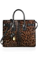 Saint Laurent Small Sac De Jour Calf Hair Tote - Lyst