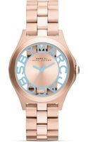 Marc By Marc Jacobs Henry Skeleton Fluoro Ice Watch 34mm - Lyst