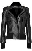 Balmain Leather Bomber Jacket - Lyst