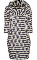 James Lakeland Knitted Texture Cowl Neck Dress - Lyst