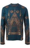 Dolce & Gabbana Cathedral Print Tshirt - Lyst
