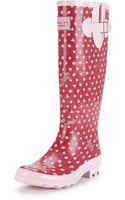 Radley Radley Hibbert Printed Welly Boots - Lyst
