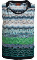 Missoni Wool Blend Knit Vest - Lyst