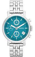Fossil Womens Original Boyfriend Stainless Steel Bracelet Watch 38mm - Lyst