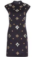 Tory Burch Carlan Embellished Wool Dress - Lyst