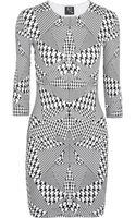 McQ by Alexander McQueen Houndstoothprint Cottonblend Jersey Dress - Lyst