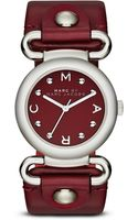 Marc By Marc Jacobs Molly Stainless Steel  Leather Studded Strap Watch - Lyst