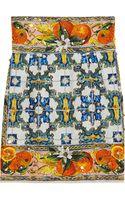 Dolce & Gabbana Embellished Printed Jacquard Mini Skirt - Lyst