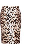 Moschino Cheap & Chic Ultimate Leopard Pencil Skirt - Lyst