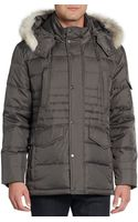 Marc New York By Andrew Marc Fur-trimmed Quilted Down Jacket - Lyst