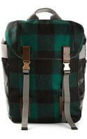 Lanvin Checked Backpack - Lyst