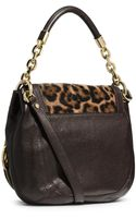 Michael Kors Stanthorpe Leopard Hair Calf Medium Shoulder Bag - Lyst